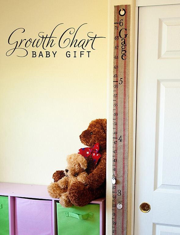 DIY Baby Gift ~ Portable Growth Chart Kit \u2022 Whipperberry