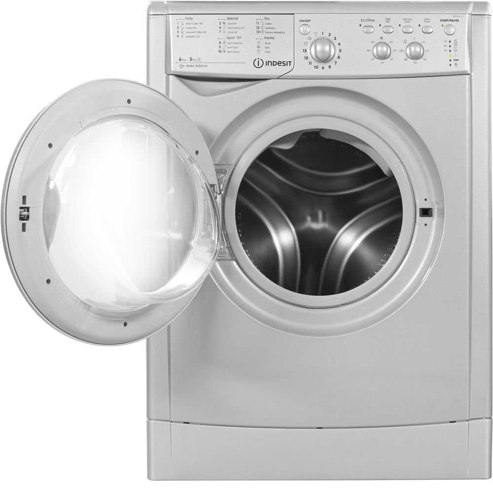 Indesit Iwdc 6125 Indesit Ecotime Iwdc 6125 S Washer Dryer In Silver Iwdc 6125 S Uk