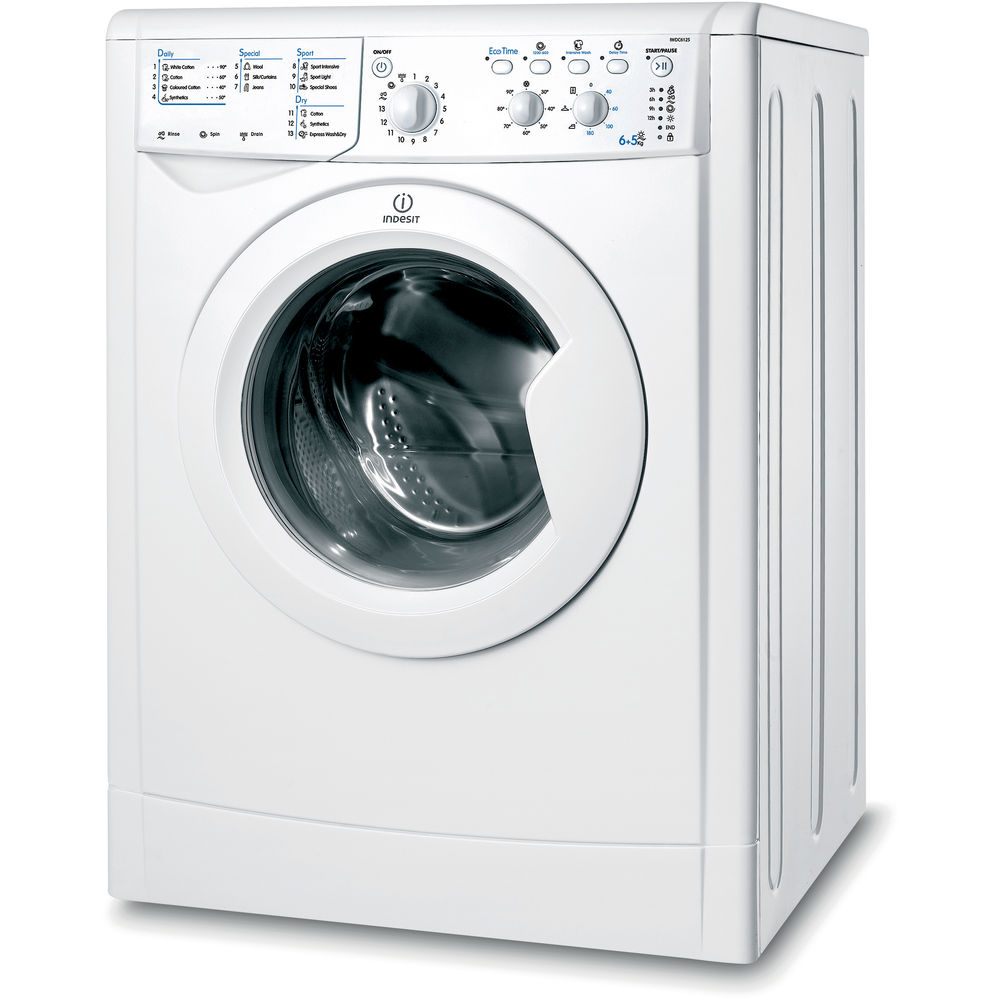Indesit Iwdc 6125 Indesit Ecotime Iwdc 6125 Washer Dryer In White - Iwdc 6125 Uk