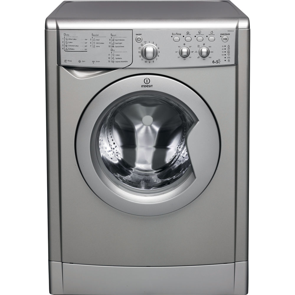 Indesit Iwdc 6125 Indesit Ecotime Iwdc 6125 S Washer Dryer In Silver - Iwdc