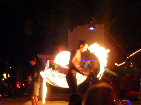 fire performers at stones bar on koh phi phi
