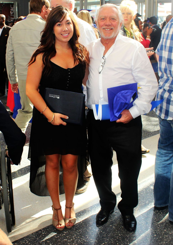 me and my grandad at my graduation