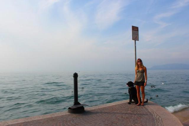 Charlotte on a summer vacation to Lake Garda, Italy.