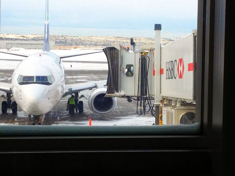 plane's arrival