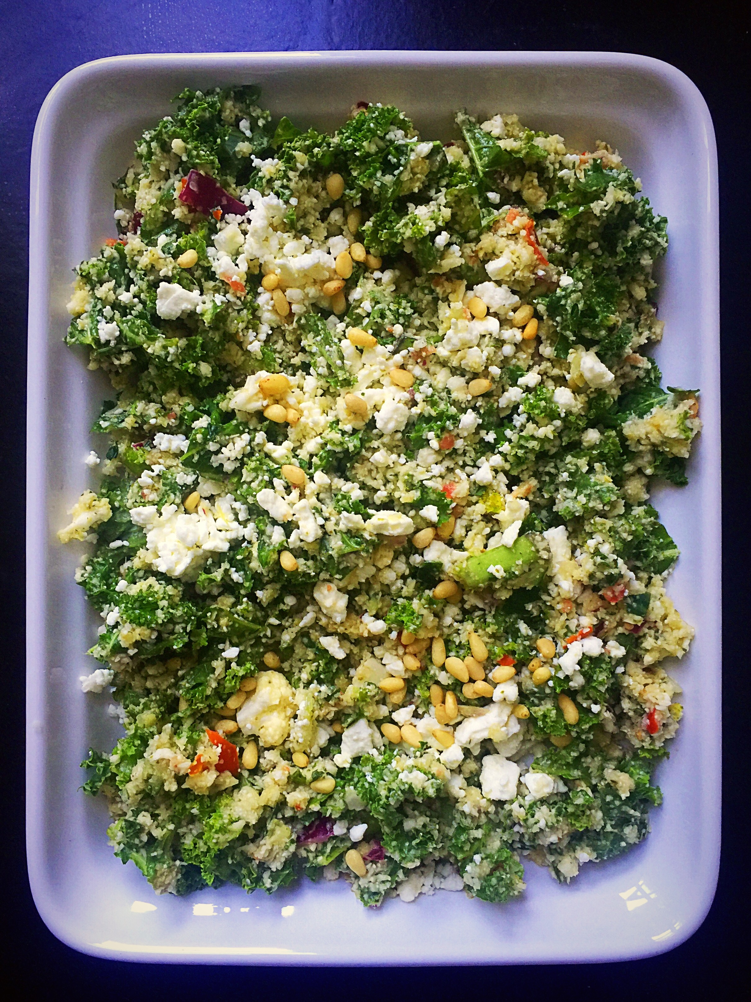 {GF} Kale & Cauliflower Rice Tabbouleh | Whisk and Shout
