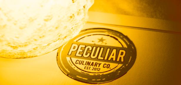 Peculiar culinary company candle