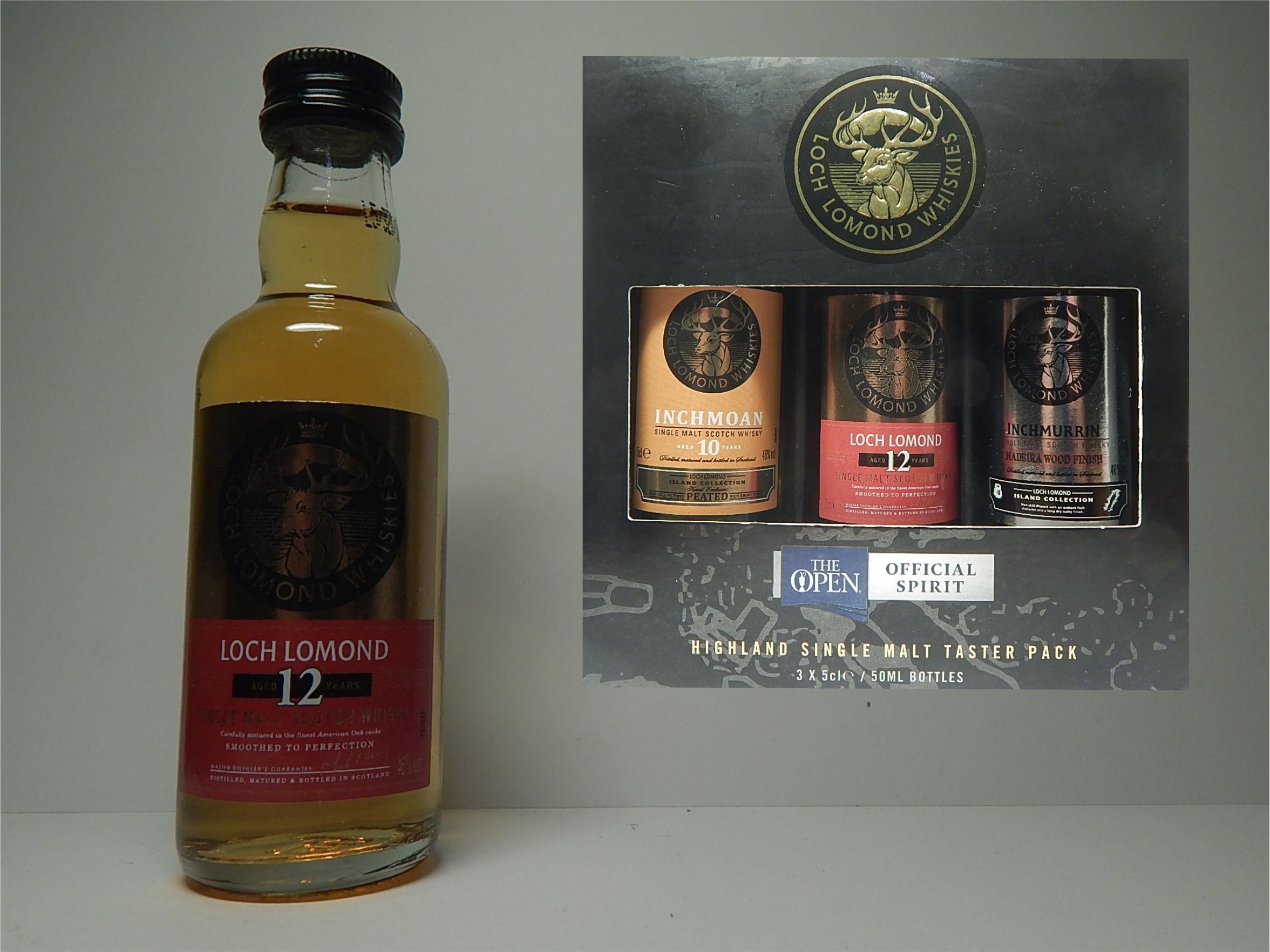Courvoisier Sessel Loch Lomond Inchmurrin