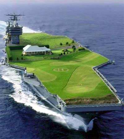 Golfing on a Aircraft Carrier