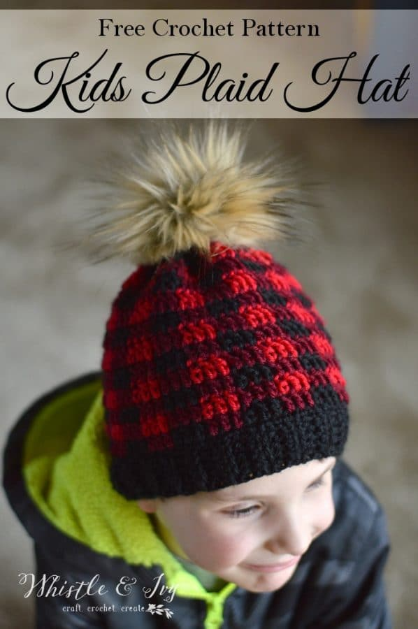 Toddler Child Hat Size Toddler And Child Crochet Plaid Hat Whistle And Ivy