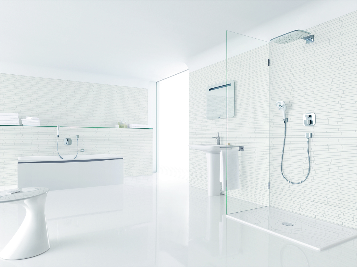 Hans Grohe Interiors Hansgrohe Bathrooms White Cabana