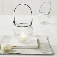 Glass Hanging Tealight Holder | The White Company UK