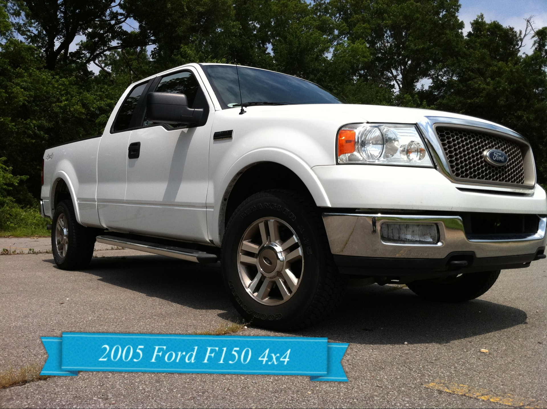 Ford F150 4x4 2005 Ford F150 Truck 4x4 White Lariat With Leather And Heated