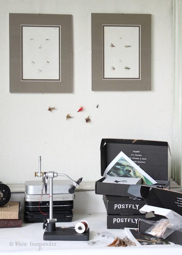 Postfly Box, Fly Box, Father's Day gift -white gunpowder
