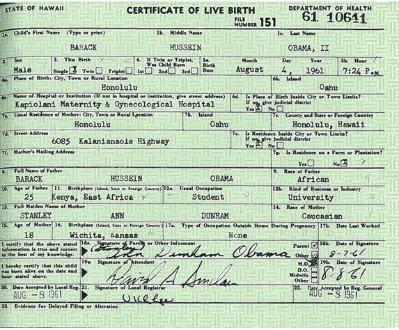 My Birth Certificate - birth certificate