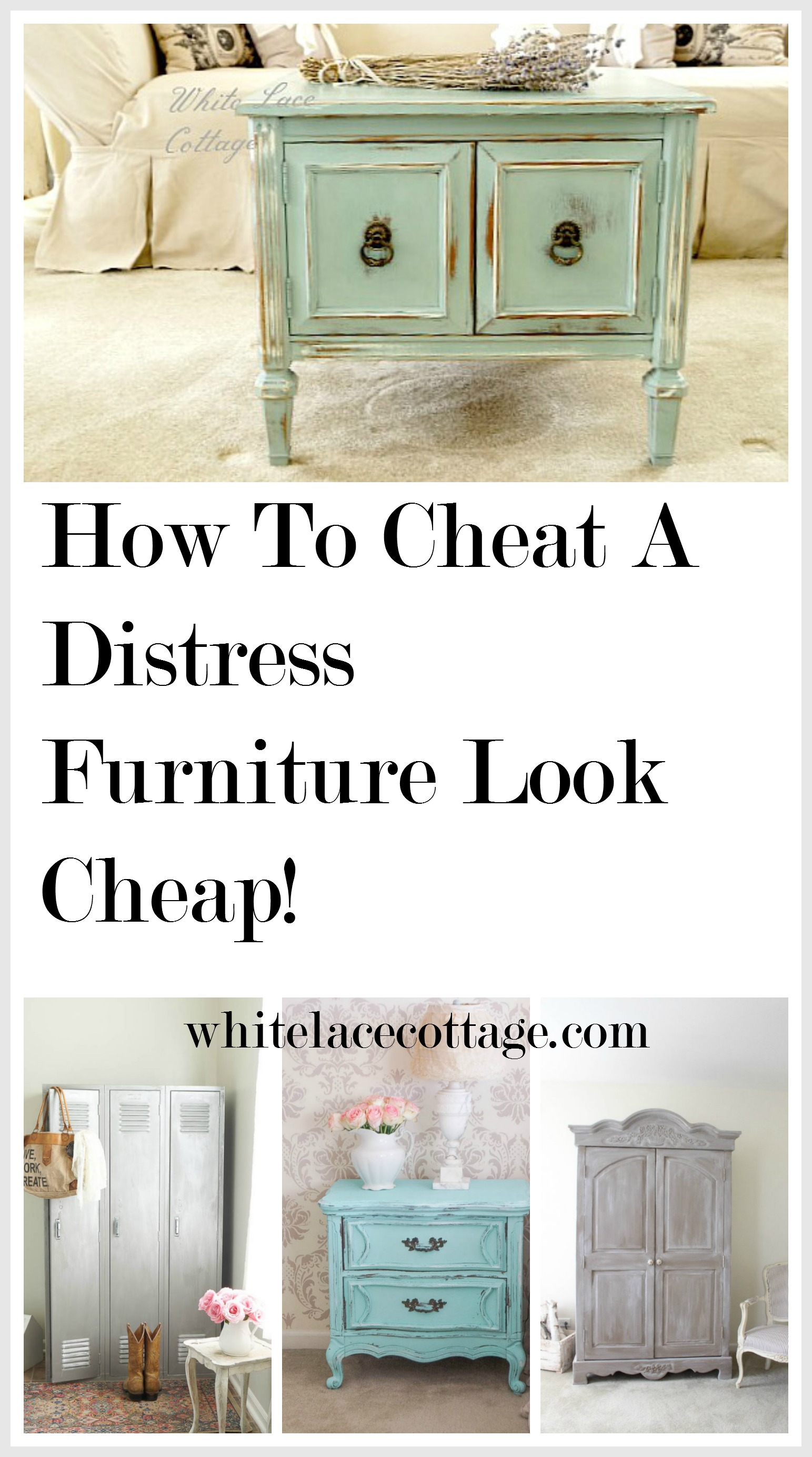 How To Cheat A Distress Furniture Look Cheap Anne P Makeup And More