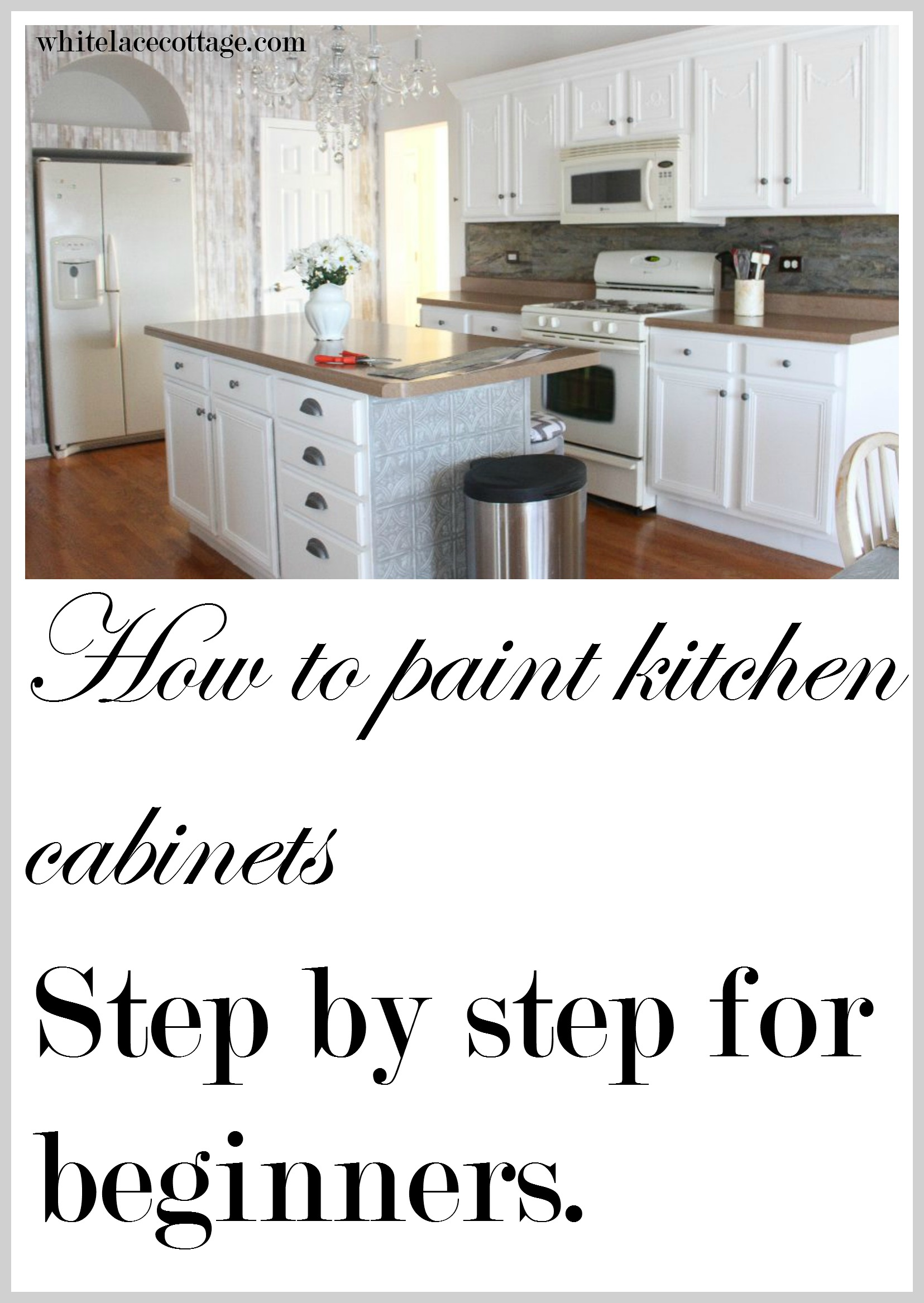 Painting Kitchen Cabinets How To Step By Step Anne P Makeup And More