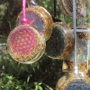orgone pendants, Lightstones, orgonite