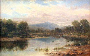 Mount Washington from the Saco River by Aaron Draper Shattuck