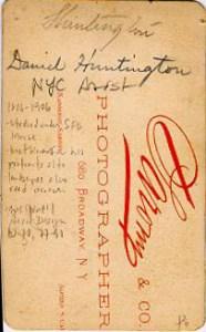 Back of Calling Card of Daniel Huntington (1816-1906)