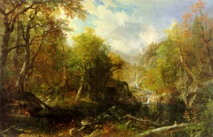The Emerald Pool, Pinkham Notch by Albert Bierstadt