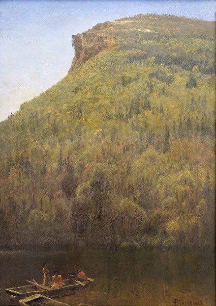 Old Man of the Mountain from Profile Lake by Albert Bierstadt