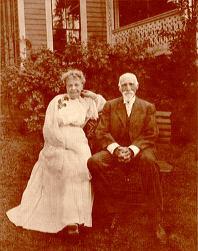 Marion Colman Shattuck and Aaron Draper Shattuck (1832-1928) on their 50th Wedding Anniversary