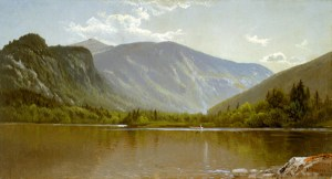 Echo Lake and Mount Lafayette, Franconia Notch by Alfred Thompson Bricher