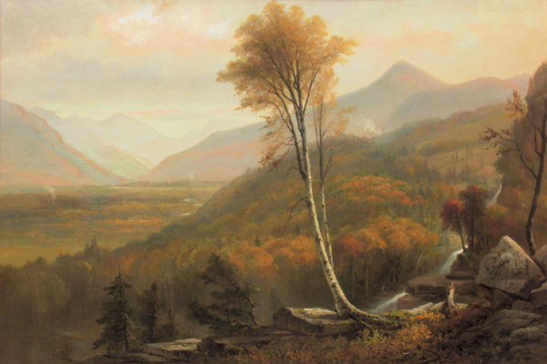 Autumn Landscape with Waterfall by Benjamin Champney