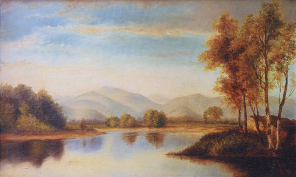 Mount Washington from the Saco River by C. F. Clarke