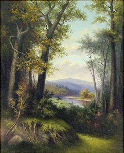Mount Washington from the Saco River, North Conway by George McConnell