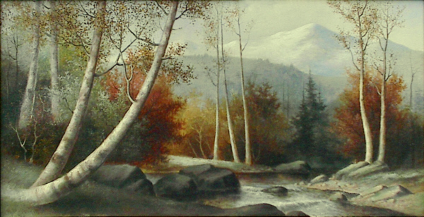 Mount Washington from the Saco River by George McConnell