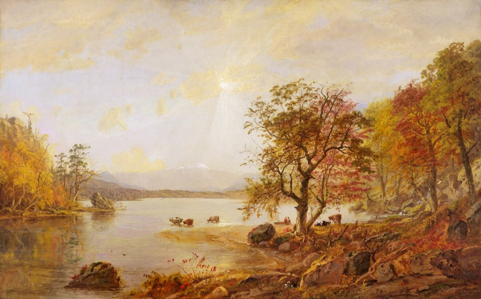 Mount Washington from Lake Sebago by Jasper Francis Cropsey