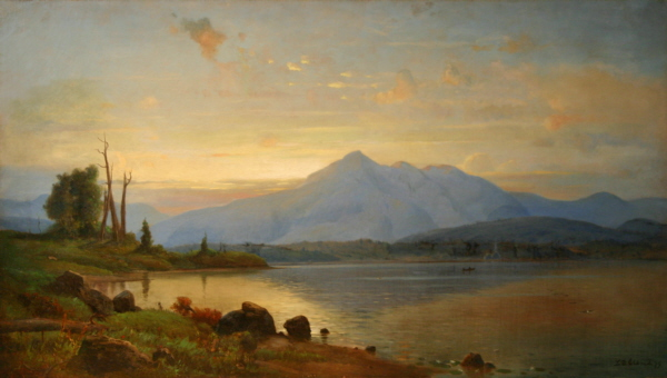 Sunset over Mount Chocorua from Silver Lake by Lemuel D. Eldred