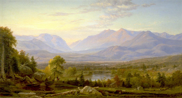 Franconia Notch from North Woodstock by Samuel Lancaster Gerry
