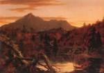 Autumn Twilight, View of Corway Peak [Mount Chocorua], New Hampshire by Thomas Cole