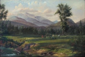 Mount Washington from the Saco River, Bartlett by Charles DeWolf Brownell