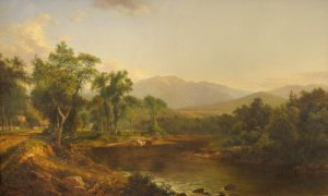 Mount Lafayette from the Gale River, Franconia by David Johnson
