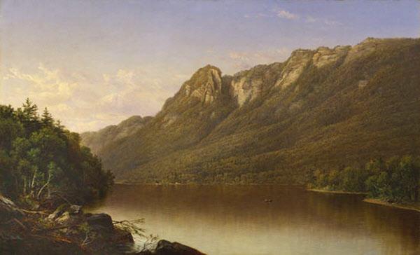 Eagle Cliff from Profile Lake, Franconia Notch by David Johnson