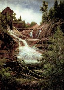 Goodrich Falls on the Ellis River by Edward Hill