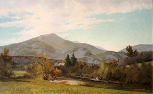 Morning in the Franconia Valley, Mount Lafayette by Edward Hill
