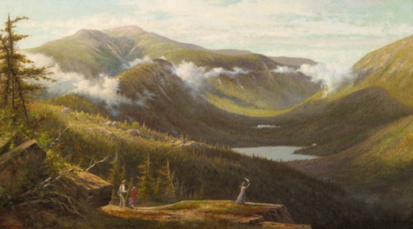 Mount Lafayette, Echo Lake, Franconia Notch from Bald Mountain by Edward Hill
