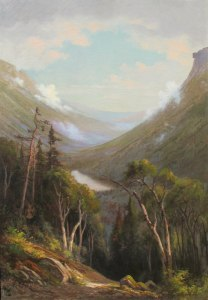 Old Man, Profile Lake, and Franconia Notch from the Bridal Path on Mount Lafayette by Edward Hill
