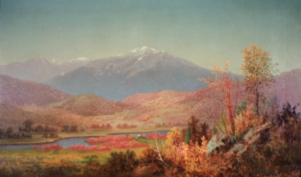Mount Washington and Mount Madison from Shelburne by Frederick A. Butman