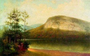 White Horse Ledge from Echo Lake by George McConnell