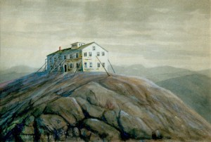 The Expanded First Summit House on Mount Kearsarge by George Newcomb