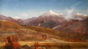 Mounts Jefferson and Adams from the Glen, Pinkham Notch by Harrison Bird Brown