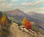 Mount Adams and Mount Madison from the Mount Washington Carriage Road by Harry H. Howe