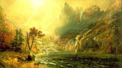 Lake Scene, Franconia Notch by Jasper Francis Cropsey