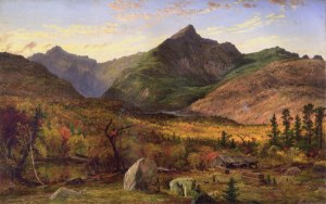 Mount Jefferson and Mount Adams from the Glen, Pinkham Notch by Jasper Francis Cropsey