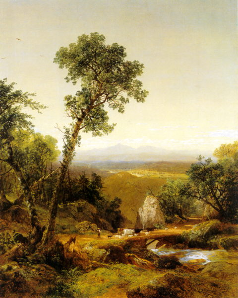 Mount Lafayette and Franconia Notch from Littleton by John Frederick Kensett